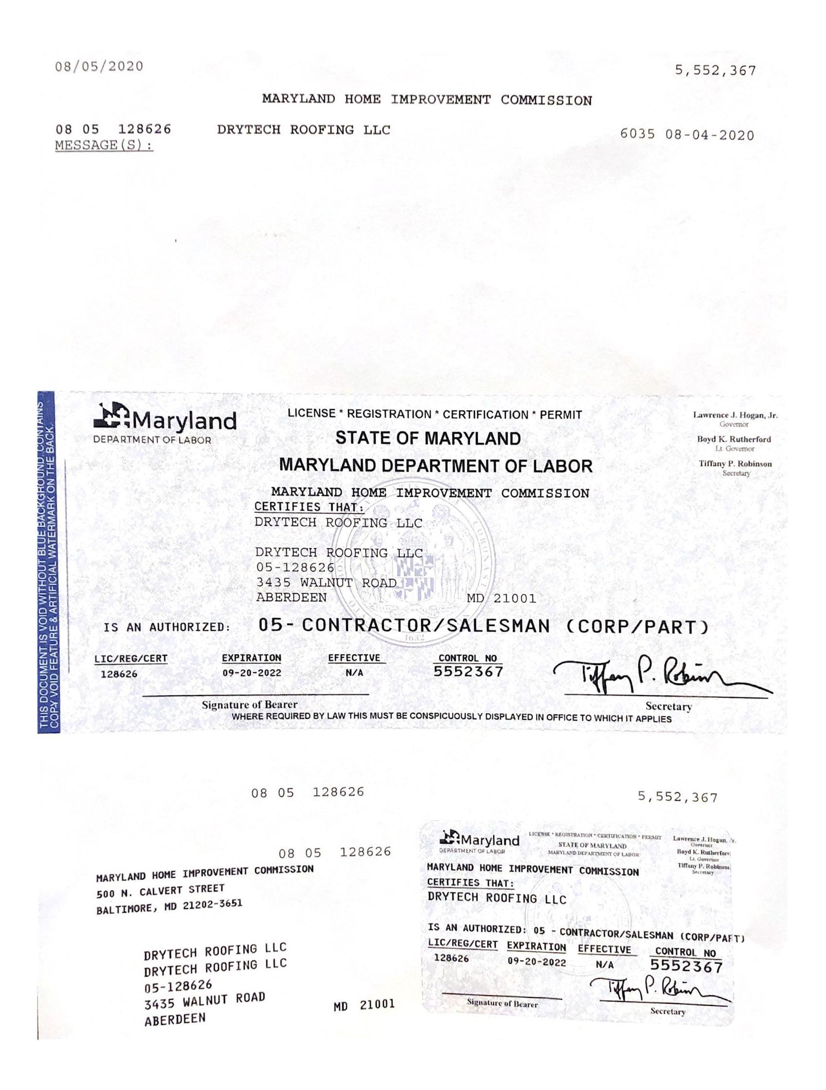 MD License